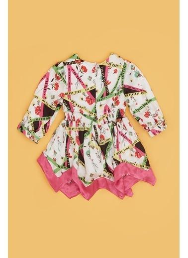 BG Baby Kız Bebek Desenli Elbise 20Pfwbg2903 Renkli